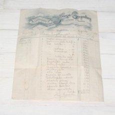 Facturas antiguas: ANTIGUA FACTURA DE FERRETERÍA MONSERRATE - HABANA - 1924. Lote 139351098
