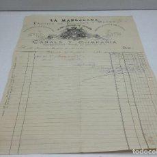 Facturas antiguas: LA MANRESANA - FABRICA DE POLVORA Y MECHA - MANRESA 27/4/1880 - PROVEEDORES DE LA REAL CASA. Lote 140476514
