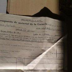 Facturas antiguas: PRESUPUESTO MATERIAL ESCOLAR -CANTABRIA -LA ACEBOSA-1957. Lote 140570550