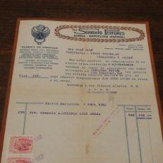 Facturas antiguas: ANTIGIA FACTURA THE STANDARD PERFUMES (FÁBRICA DE ESENCIAS PARA COLONIA,LOCIONES...) SARRIÁ,1952.. Lote 140803150