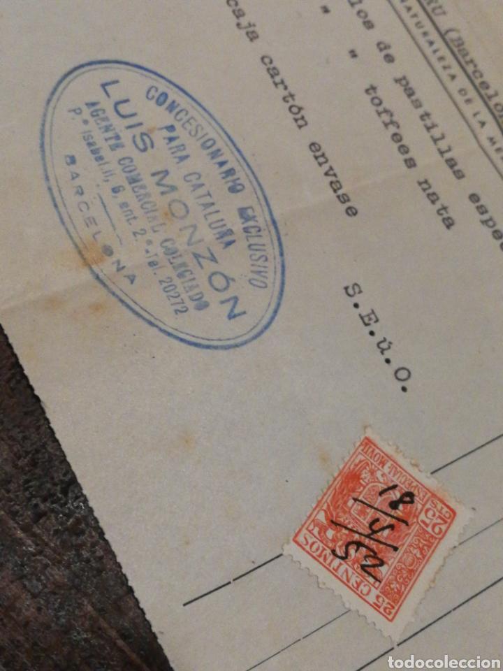 Facturas antiguas: ANTIGUA FACTURA VDA.DE CELESTINO SOLANO, PASTILLAS DE CAFÉ Y LECHE (LOGROÑO), 1952, TIMBRE. - Foto 3 - 140804556