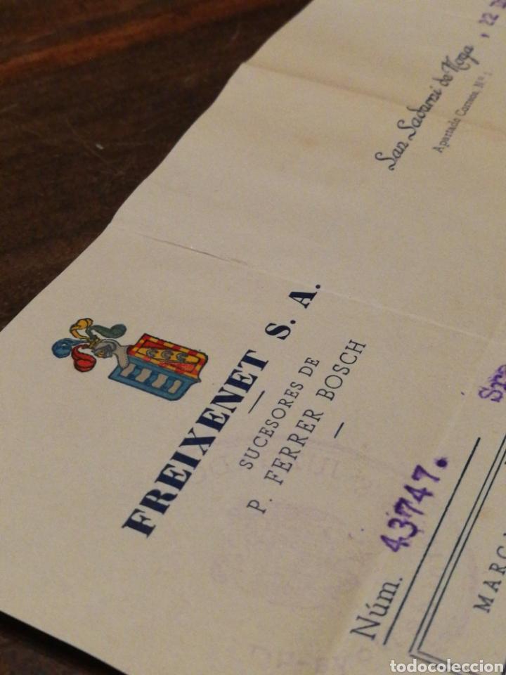 Facturas antiguas: ANTIGUA FACTURA FREIXENET S.A.(SAN SADURNÍ DE NOYA), 1952, TIMBRE. - Foto 2 - 140917468