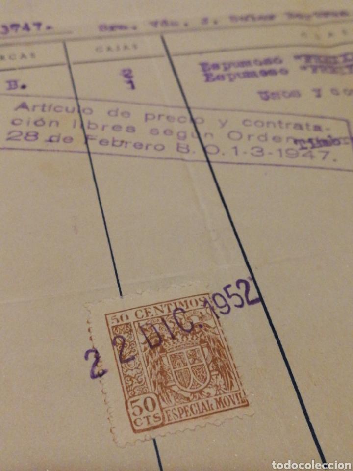 Facturas antiguas: ANTIGUA FACTURA FREIXENET S.A.(SAN SADURNÍ DE NOYA), 1952, TIMBRE. - Foto 3 - 140917468