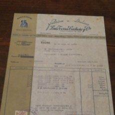 Facturas antiguas: ANTIGUA FACTURA FÁBRICA DE DULCES LUIS TORRES CASTAÑO Y CIA.- DAMA DE ELCHE (ELCHE), 1952,TIMBRE.. Lote 140923665