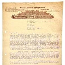 Facturas antiguas: FACTURA FABRICA DE PIMENTÓN VIUDA DE LUIS FERNÁNDEZ. PLASENCIA CÁCERES 1941. Lote 144050366