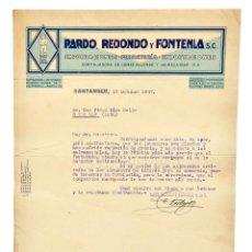 Facturas antiguas: FACTURA FERRETERÍA PARDO, REDONDO Y FONTENLA. SANTANDER 1947. Lote 144050814