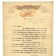 Facturas antiguas: FACTURA FÁBRICA DE IMPERMEABLES DEU Y MAURELL. DEMOREL. BARCELONA 1924. Lote 144051470