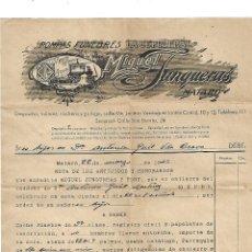 Facturas antiguas: POMPAS FÚNEBRES LA SEPULCRAL MATARO 1941. Lote 144104134