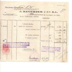 Facturas antiguas: GALETAS Y BIZCOCHOS LA POLAR. MANRESA. 1942. CLIENTE FRANCISCO AZAGRA PAMPLONA. Lote 145373462