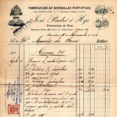 Facturas antiguas: JOSE PADRÓ E HIJO. BARCELONA.. CLIENTE MERCEDES DE BORRAS. Lote 147775230
