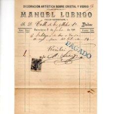 Facturas antiguas: FACTURA DE MANUEL LUENGO. BARCELONA... Lote 147776190