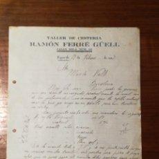 Faturas antigas: CARTA COMERCIAL. CESTERIA RAMON FERRE GUELL. FIGUEROLA. TARRAGONA. 1927. Lote 148693080