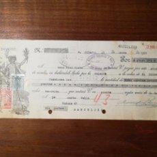 Fatture antiche: LETRA DE CAMBIO SANT HILARI SACALM. 1928. Lote 150494941