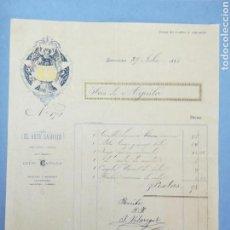 Facturas antiguas: FACTURA. EL ARTE SAGRADO. 1885.BARCELONA.. Lote 151507353