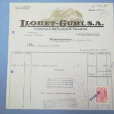Facturas antiguas: FACTURA. LLOBET GURI. BARCELONA. 1956. Lote 151508748