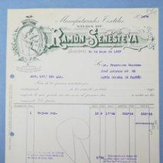 Facturas antiguas: FACTURA. RAMON SENESTEVA. BARCELONA. 1957.. Lote 151509101
