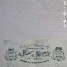 Facturas antiguas: FACTURA CARRUAJES.SAN SEBASTIAN. Lote 151564600