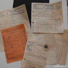 Facturas antiguas: FACTURAS Y DOCUMENTOS FARMACIA JUFERNA DOS HERMANAS 1928 // LISTA DE PRECIOS MEDICAMENTOS. Lote 152240586