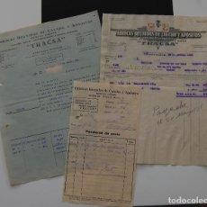 Facturas antiguas: FACTURAS FARMACIA FRACSA FÁBRICA DE CAUCHOS Y APÓSITOS AÑO 1935. Lote 152240838