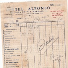 Facturas antiguas: FACTURA. HOTEL ALFONSO. MADRID 1933. Lote 152296530