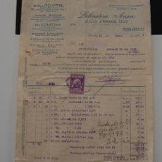 Facturas antiguas: FACTURA FARMACIA LABORATORIOS ARRANS 1935. Lote 152371194
