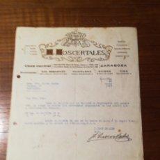 Facturas antiguas: CARTA COMERCIAL. LOS CENTRALES. ZARAGOZA. 1927. Lote 152488252