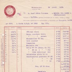 Facturas antiguas: FACTURA. MARTI LLOPART Y TRENCHS. TEXTIL. BARCELONA 1931. Lote 152522882