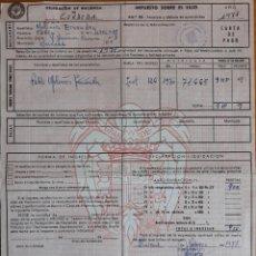 Facturas antiguas: DOCUMENTO DE PAGO IMPUESTO SOBRE EL LUJO CORDOBA 1971. Lote 152657048