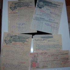 Facturas antiguas: FACTURAS DE FARMACIA JUAN FERNÁNDEZ GÓMEZ DROGAS Y PRODUCTOS QUÍM + PAGARÉ LETRA // LOS DE LA FOTO. Lote 153740426