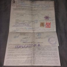 Facturas antiguas: PAPEL ANTIGUO. HIDROELÉCTRICA ESPAÑOLA (ZONA LEVANTE SUR), CONTRATO Y FACTURA, 1963. Lote 154871810
