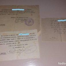Facturas antiguas: PAPEL ANTIGUO. RECIBO RECIBÍ PAGO POR TIERRAS, ZONA ELDA-MONÓVAR, 1948 Y 1950. Lote 154996878
