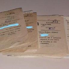 Facturas antiguas: PAPEL ANTIGUO. RECIBOS AYUNTAMIENTO ELDA. CÁMARA OFICIAL DE LA PROPIEDAD. 1940 A 1973. Lote 154997626