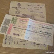 Facturas antiguas: FACTURA / LETRA JEREZ DE LA FRONTERA CADIZ MARQUES DEL REAL TESORO 1939. Lote 155285554