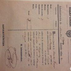 Facturas antiguas: SILLAS CORREO MADRID 1855 DIRECCION LUGO FACTURA. Lote 155584356