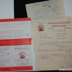Facturas antiguas: FACTURA FARMACIA MANUFACTURAS MAR MAT TERMO REACTIVO BARCELONA AÑO 1939. Lote 156668310