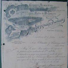 Facturas antiguas: FACTURA - HIJOS DE IGNACIO DAMIAN - FUMISTERIA; QUINCALLA - ORFEBRERIA RELIGIOSA - BARCELONA 1913. Lote 157019350