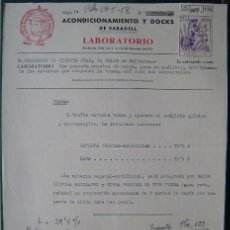 Facturas antiguas: FACTURA - LABORATORIO ACONDICIONAMIENTOS DOCKS; - SABADELL 1958. Lote 157021658