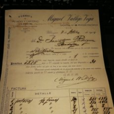 Facturas antiguas: FACTURA DE UBRIQUE 1914. MIGUEL VALLEJO. Lote 157121814