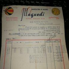 Facturas antiguas: FABRICA DE BALONES. MADRID 1947. Lote 157122658