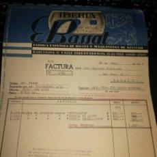 Facturas antiguas: HOJAS DE AFEITAR IBERIA. 1941. Lote 157124418