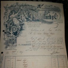 Facturas antiguas: FABRICA DE ESENCIAS, PERFUME Y JABONES. VALENCIA 1924. Lote 157124878