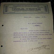 Facturas antiguas: MANUFACTURAS DE CELULOIDE. MANACOR 1931. Lote 157126269
