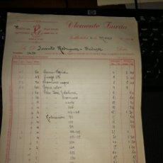 Facturas antiguas: CLEMENTE ZURITA. VALLADOLID 1914.. Lote 157127116