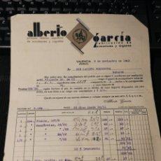 Facturas antiguas: ALBERTO GARCÍA. ACORDEONES Y JUGUETES. 1943. Lote 157130442