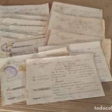 Facturas antiguas: LOTE FACTURAS / LETRA JEREZ DE LA FRONTERA CADIZ PEDRO DOMECQ GUERRA CIVIL AÑOS 30 . Lote 157266142