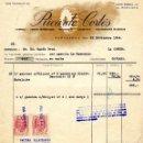 Facturas antiguas: ANTIGUA FACTURA DE RICARDO CORTÉS - BARCELONA 1954. Lote 160340130