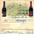 Facturas antiguas: ANTIGUA FACTURA DE CAVAS CHAMP-SORS. - MASNOU (BARCELONA) 1940. Lote 160346618