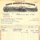 Facturas antiguas: ANTIGUA FACTURA DE ALTOS HORNOS DE VIZCAYA. - BILBAO 1934. Lote 160346846