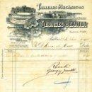 Facturas antiguas: ANTIGUA FACTURA TALLERES MECÁNICOS GEORGES JEANTET - BILBAO 1916. Lote 160370522