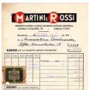 Facturas antiguas: ANTIGUA FACTURA MARTINI & ROSSI - BARCELONA 194.... Lote 160372866